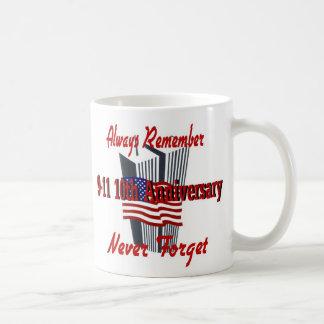 9-11 10 Anniversary Commemorative Coffee Mug