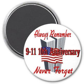 9-11 10 Anniversary Commemorative Magnet