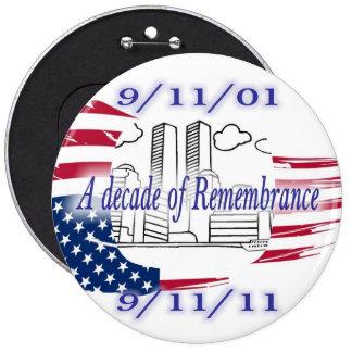 9-11 10th Anniversary Commemorative Buttons