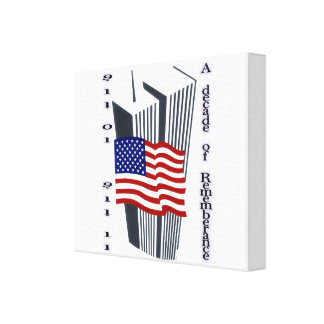 9-11 10th Anniversary Commemorative Stretched Canvas Print