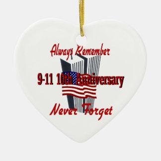 9-11 10th Anniversary Commemorative Christmas Ornament