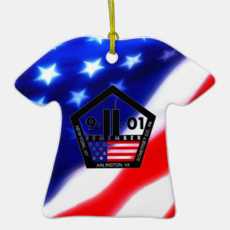 9-11 10th Anniversary Commemorative Double-Sided T-Shirt Ceramic Christmas Ornament