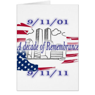 9-11 10th Anniversary Commemorative Greeting Card