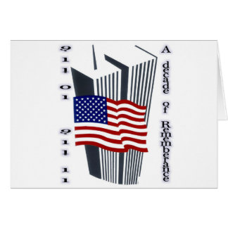 9-11 10th Anniversary Commemorative Greeting Card
