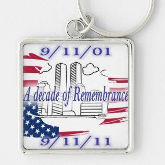 9-11 10th Anniversary Commemorative Keychains