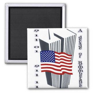9-11 10th Anniversary Commemorative Magnet