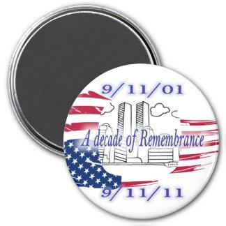 9-11 10th Anniversary Commemorative Magnets