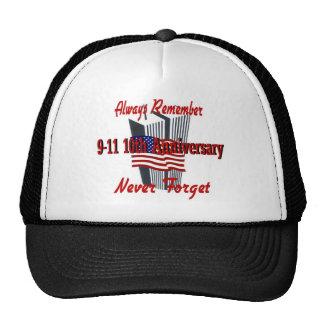 9-11 10th Anniversary Commemorative Mesh Hats