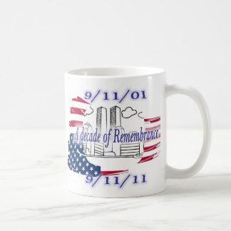 9-11 10th Anniversary Commemorative Classic White Coffee Mug