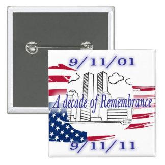 9-11 10th Anniversary Commemorative Pin