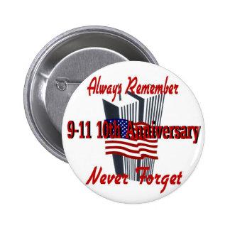 9-11 10th Anniversary Commemorative Pins