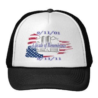 9-11 10th Anniversary Commemorative Trucker Hats