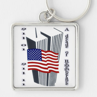 9-11 10th Anniversary Remembrance Key Chain