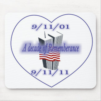 9-11 10th Anniversary Remembrance Mousepad