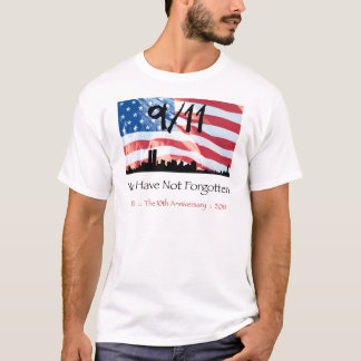 9/11 10th Anniversary WTC and the Flag T-Shirt