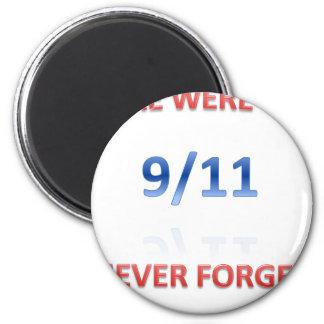 9/11/2001 6 CM ROUND MAGNET