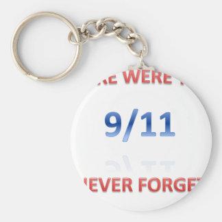 9/11/2001 BASIC ROUND BUTTON KEY RING