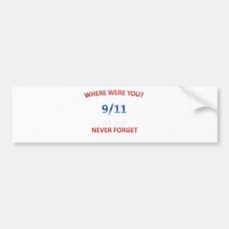 9/11/2001 CAR BUMPER STICKER