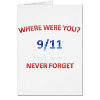 9/11/2001 GREETING CARD