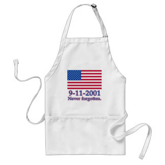 9-11-2001 Never Forgotten Tshirts, Buttons Adult Apron