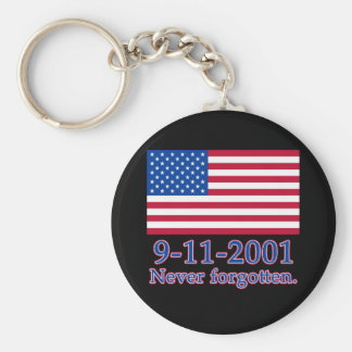 9-11-2001 Never Forgotten Tshirts, Buttons Basic Round Button Key Ring