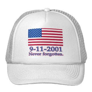 9-11-2001 Never Forgotten Tshirts, Buttons Trucker Hat