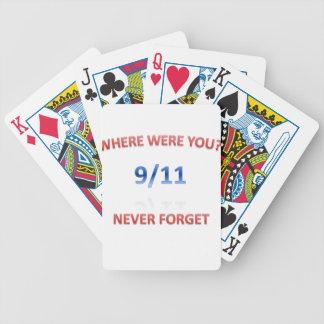 9/11/2001 POKER CARDS