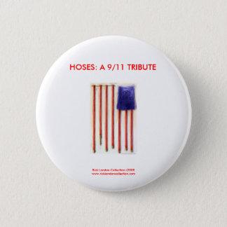 9/11 American Flag Firefighter Novelty Button