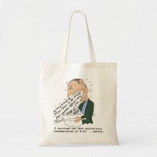 9/11 anniversary commemoration funny design budget tote bag