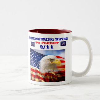 9/11 COMMERATIVE COFFEE CUP Two-Tone MUG