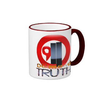 9/11 Demand Truth Ringer Coffee Mug
