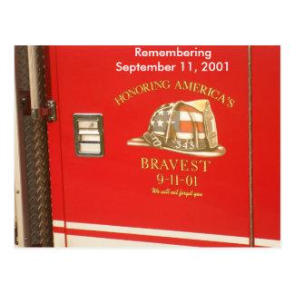 9-11 Firemen Postcard