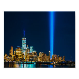 9-11 Lights from Jersey City Poster