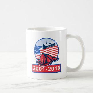 9/11 memorial american flag twin towers fireman mugs