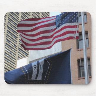 9 11 Memorial Flags Mousepad