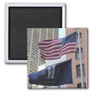 9 11 Memorial Flags Refrigerator Magnets