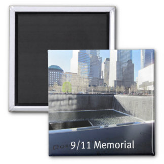 9/11 Memorial Square Magnet