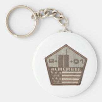9/11 Memorial Pentagon Patch Basic Round Button Key Ring