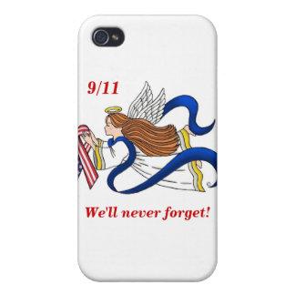 9/11 Memorial Ribbon Angel iPhone 4 Covers