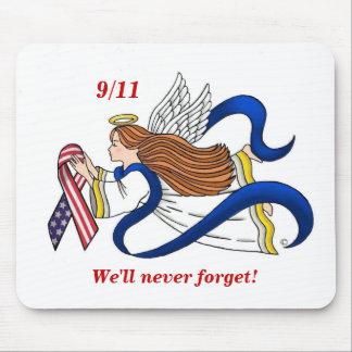 9/11 Memorial Ribbon Angel Mouse Pad