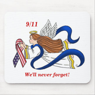9 11 Memorial Ribbon Angel Mousepad
