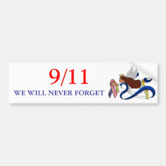 9/11 Memorial Ribbon, Ethnic Angel Bumper Sticker