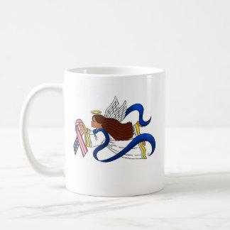 9/11 Memorial Ribbon, Ethnic Angel Coffee Mugs