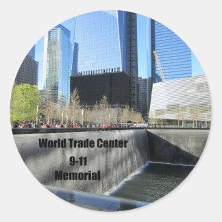 9-11 Memorial Round Sticker