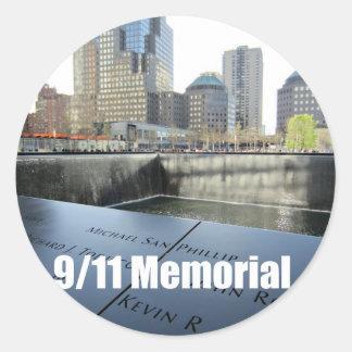 9 11 Memorial Round Sticker