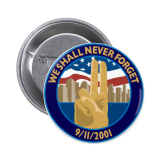9/11 Memorial Symbol Button
