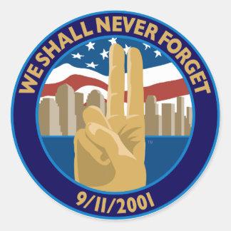 9/11 Memorial Symbol Sticker