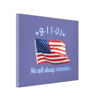 9-11 Memorial We Will Always Remember Canvas Print