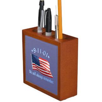 9-11 Memorial We Will Always Remember Pencil Holder