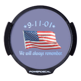 9-11 Memorial We Will Always Remember LED Car Window Decal